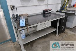 """30"""" X 60"""" X 34"""" HIGH STEEL WORKBENCH WITH 6"""" BABCO BENCH VISE"""