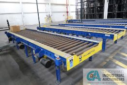 """LINES 40"""" WIDE X 18' LONG (APPROX.) TRANSBOTICS MODEL CDLR-7244 CONVEYOR ACCUMULATOR STATIONS WITH"""