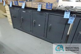 """****34"""" X 74"""" X 1/2"""" THICK STEEL TOP PLATE 33-3/4 OVERALL HEIGHT FOUR DRAWER COMPARTMENT SUPER"""