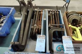"""(LOT) 18"""" / 10"""" / 8"""" HEAVY DUTY C-CLAMPS, (12) C-CLAMPS TOTAL"""