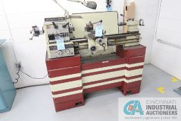 """11"""" X 26"""" EMCO MAXIMAT SUPER 11 GEARED HEAD ENGINE LATHE; S/N N/A, WITH 5C COLLET CHUCK, LEVER"""