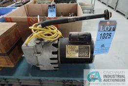 K&K MODEL K-15 VAC-U-GOLD ELECTRIC DEEP VACUUM PUMP, 1/3 HP, 115 VOLTS