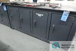 """****34"""" X 74"""" X 1/2"""" THICK STEEL TOP PLATE 33-3/4 OVERALL HEIGHT SUPER DUTY STEEL WORK BENCH **"""