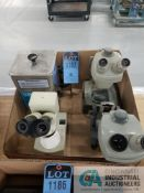 (LOT) (2) BAUSCH & LOMB & (1) NATIONAL MICROSCOPES W/ CREST 200T ULTRASONIC CLEANER