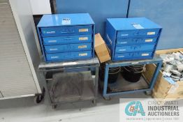 FOUR-DRAWER FASTENAL HARDWARE CABINETS WITH CARTS