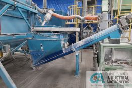 """**36"""" LONG TWIN SCREW CRUSHER HOPPER WITH 2' X 2' OPENING AND AUGER *NOTE BLUE IRON ONLY*"""