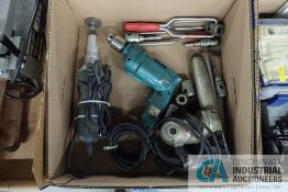 (LOT) MISCELLANEOUS ELECTRIC POWER HAND TOOLS