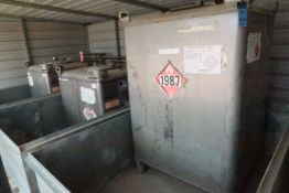 MISC. STAINLESS STEEL FLAMMABLE MATERIAL TANKS; (1) 549-GAL. UN1987 ALCOHOL TANK