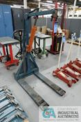 5,000 LB. APPROX. ROL-LIFT HAND HYDRAULIC PALLET TRUCK WITH CAPACITY UNKNOWN MOUNTED HAND