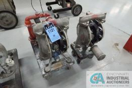 """(LOT) (3) AIR-OPERATED DOUBLE DIAPHRAM STAINLESS STEEL WATER PUMPS; (2) 2"""" ARO MODEL 666158-8EB-C"""