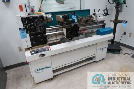 """13"""" X 40"""" CLAUSING MODEL 8027J GEARED HEAD ENGINE LATHE; S/N NG01496, WITH 6"""" THREE JAW CHUCK AND"""