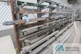 (LOT) LARGE ASSORTMENT MISCELLANEOUS COLD ROLLED STEEL, ALUMINUM, BRASS, SHEET STOCK, ELECTRICAL