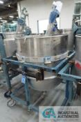 200 GALLON PORTABLE STAINLESS STEEL MIXING TANK WITH 1/2 HP EASTERN MIXERS MODEL RG-3 AGITATOR, TANK