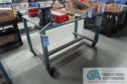 """****35"""" X 65"""" X 40-1/2"""" HIGH HEAVY DUTY PORTABLE WELDED STEEL BENCH WITH 6-1/2"""" VOST MOUNTED"""