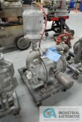"""2"""" SANDPIPER MODEL SA2-A AIR OPERATED DOUBLE DIAPHRAM PORTABLE STAINLESS STEEL WATER PUMP"""