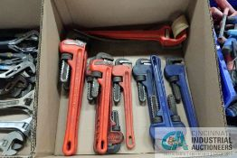 (LOT) MISCELLANEOUS PIPE WRENCHES