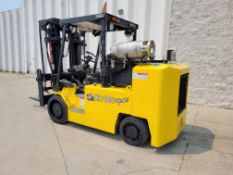 ****18,000 LB. TAYLOR MODEL XC180S LP GAS CUSHION TIRE LIFT TRUCK; S/N 38208*Located in Detroit Area