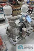 """2"""" ARO MODEL PF20A AIR-OPERATED DOUBLE DIAPHRAM PORTABLE STAINLESS STEEL WATER PUMP"""
