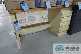 """****30"""" X 60' X 36"""" HIGH EQUIPTO FOUR-DRAWER MAPLE TOP WORK BENCH **DELAYED REMOVAL - PICKUP 8-11-"""