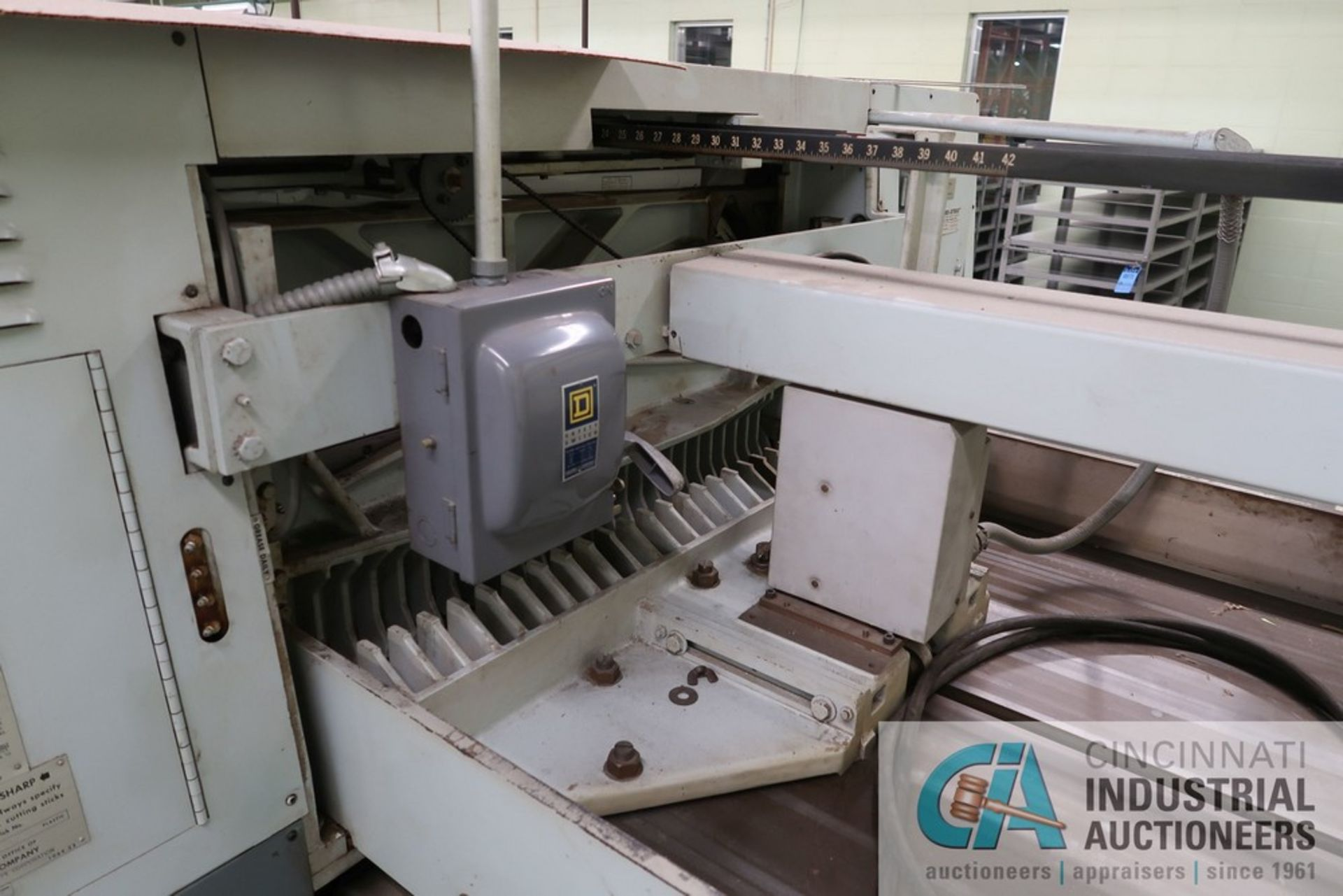"""40"""" HARRIS SEYBOLD CITATION PAPER CUTTER WITH (3) SPARE KNIVES, 3-TON CLAMP PRESSURE - Image 10 of 15"""