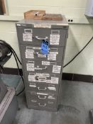 7-DRAWER CABINET WITH MISCELLANEOUS MACHINE PARTS