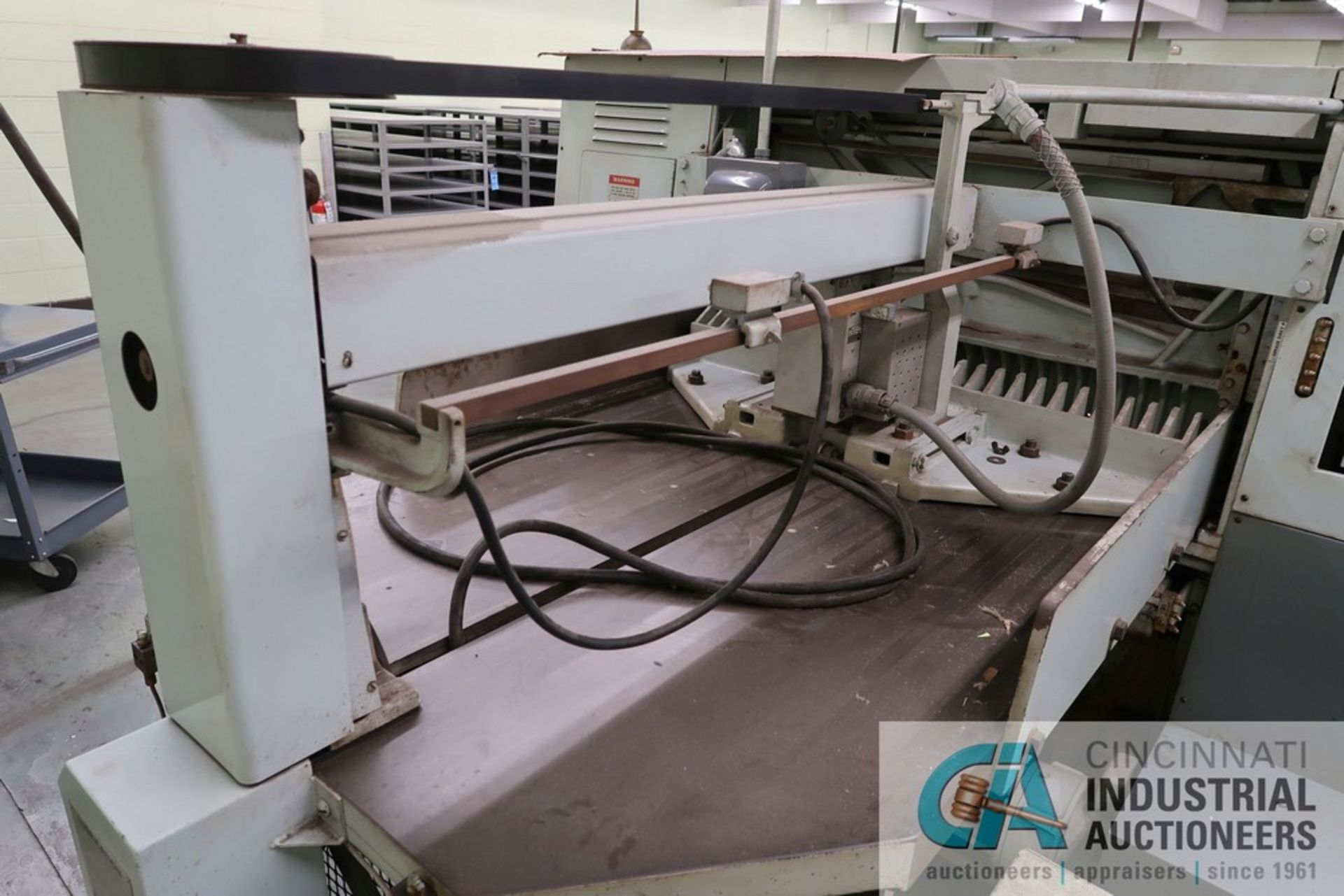 """40"""" HARRIS SEYBOLD CITATION PAPER CUTTER WITH (3) SPARE KNIVES, 3-TON CLAMP PRESSURE - Image 12 of 15"""