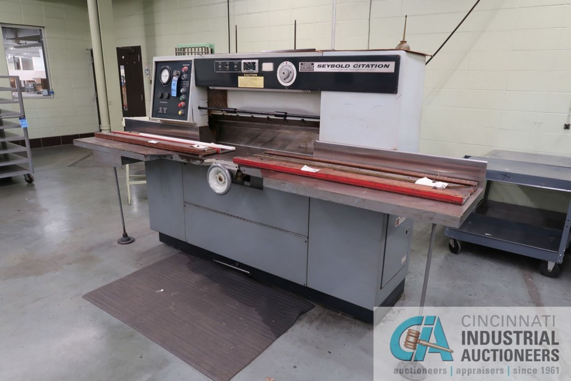 """40"""" HARRIS SEYBOLD CITATION PAPER CUTTER WITH (3) SPARE KNIVES, 3-TON CLAMP PRESSURE"""
