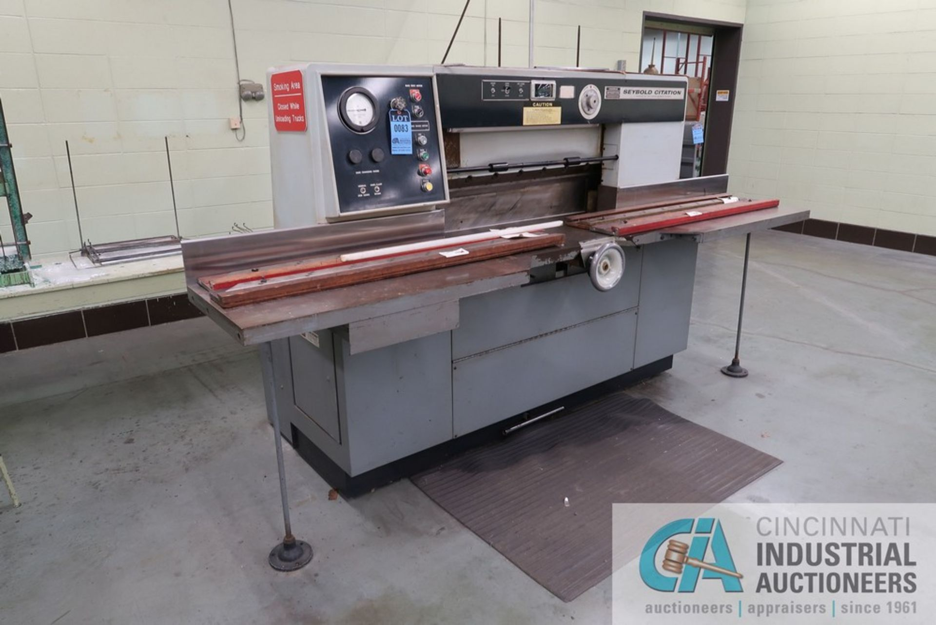 """40"""" HARRIS SEYBOLD CITATION PAPER CUTTER WITH (3) SPARE KNIVES, 3-TON CLAMP PRESSURE - Image 2 of 15"""
