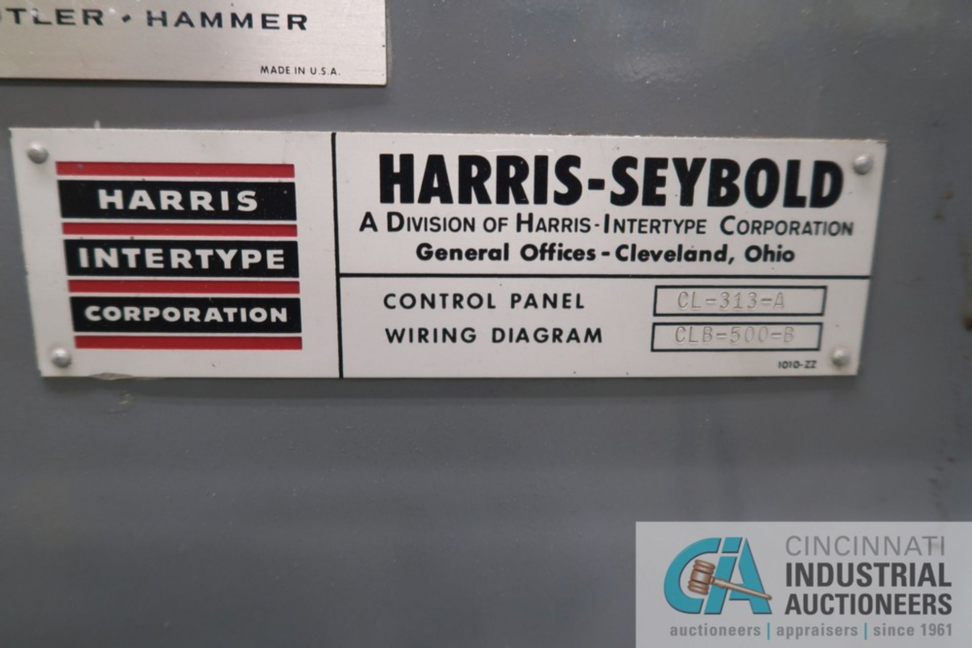 """40"""" HARRIS SEYBOLD CITATION PAPER CUTTER WITH (3) SPARE KNIVES, 3-TON CLAMP PRESSURE - Image 15 of 15"""