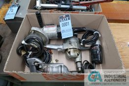 (LOT) (4) ELECTRIC TOOLS INCLUDING (2) DRILLS STRAIGHT GRINDER
