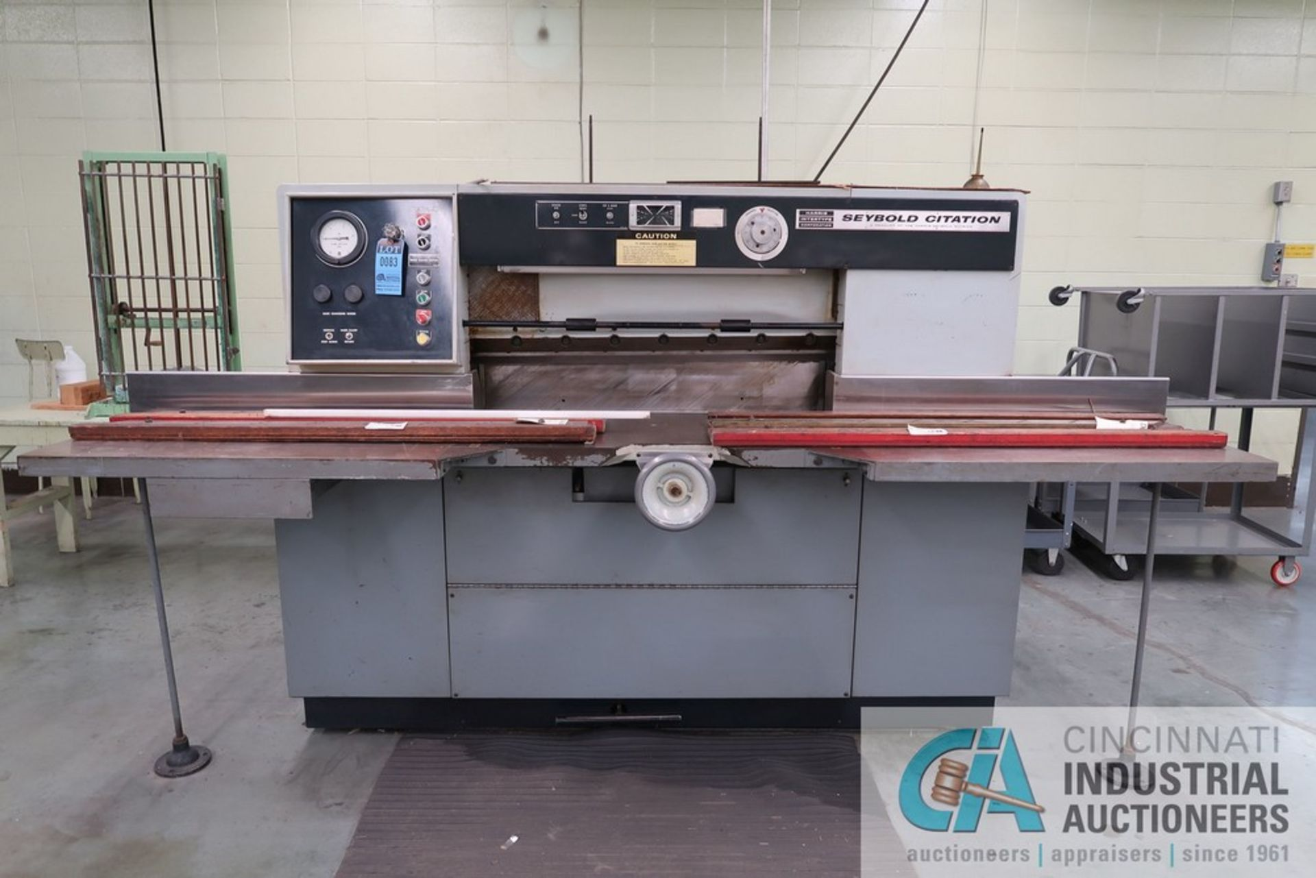 """40"""" HARRIS SEYBOLD CITATION PAPER CUTTER WITH (3) SPARE KNIVES, 3-TON CLAMP PRESSURE - Image 3 of 15"""