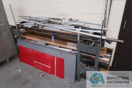 """90"""" X 20"""" X 36"""" STOCK RACK WITH CONTENTS"""