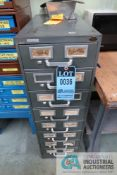8-DRAWER HARDWARE CABINET WITH MISCELLANEOUS HARDWARE