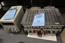 ELECTRO INDUSTRIES MODEL 3030 DUAL OUTPUT DC POWER SUPPLY WITH TEMNA MODEL 72-6610 LABORATORY DC