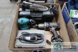 (LOT) MISCELLANEOUS ELECTRIC HAND POWER TOOLS WITH DRILL DOCTOR MODEL 750K DRILL SHARPENER
