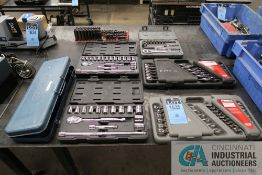 (LOT) MISCELLANEOUS SETS CRAFTSMAN, GEDORE & GEARWRENCH STANDARD/METRIC SOCKET AND WRENCH SETS