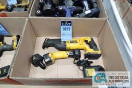 (LOT) DEWALT CORDLESS SAWZALL AND FLASHLIGHT WITH CHARGER