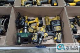 CORDLESS DEWALT DRILLS WITH CHARGERS