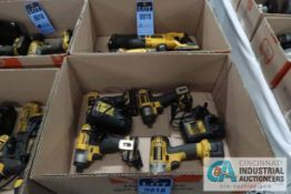 DEWALT CORDLESS SCREWDRIVERS WITH CHARGERS