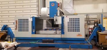 TAKUMI MODEL V20A LARGE CAPACITY CNC VMC; S/N J0505
