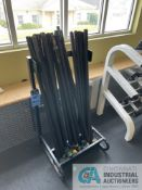 RACK WITH MISCELLANEOUS WEIGHTED CHALLENGE BARS **ATTN: This lot is located on the second floor.