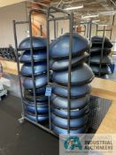 BOSU BALLS WITH RACK **ATTN: This lot is located on the second floor. Removal will be by carrying