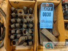 (LOT) ASSORTED NUMBER LETTER SETS - 6 BOXES