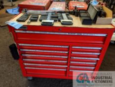 13-DRAWER US GENERAL PORTABLE TOOL BOX WITH TOOLS IN EACH DRAWER AND IMPACT SOCKETS ON RATCHETS ON