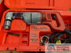 "MILWAUKEE H.D. .5"" CATALOG 1107-1 RIGHT ANGLE DRILL"