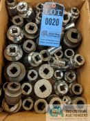"""(LOT) 3/4"""" DRIVE SOCKETS: APPROX. 50 PIECES"""