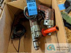 "1/2"" MILWAUKEE ELECTRIC DRILLS"