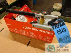 ROTHENBERGER MODEL TP25 TEST PUMP