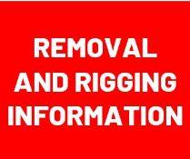 Rigging & Removal Information - Rigger Information - Closed - Friday, September 10th, Monday, Sept.