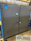 """24"""" X 72"""" X 72"""" H TWO-DOOR STRONG HOLD CABINETS W/ CONTENTS INCLUDING HYDRAULIC FITTINGS, SOCKETS,"""